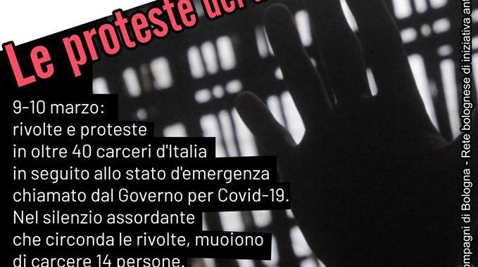 Bologna: 9 aprile giornata in solidarietà con i detenuti e detenute