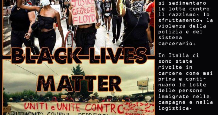 """Roma: Iniziativa 9 luglio """"Black lives matter"""""""