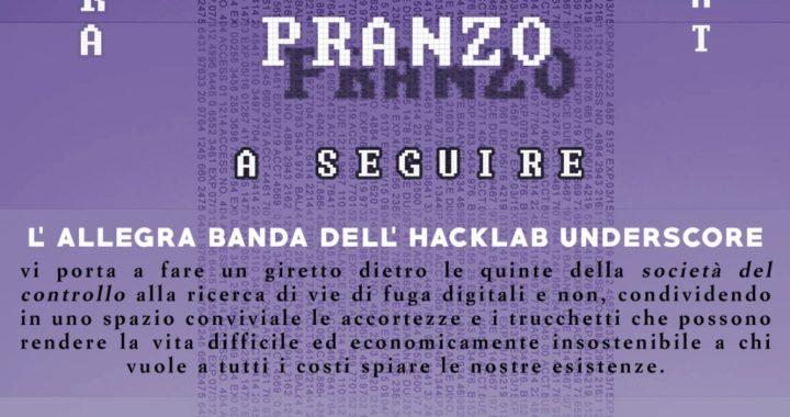 """Torino: Benefit Op. """"Scintilla""""+discussione sulla società del controllo"""