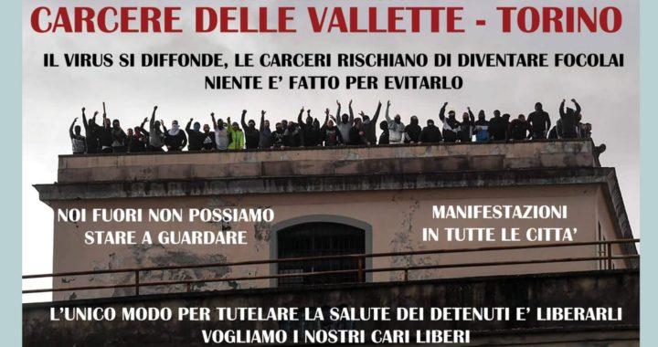 Sabato 12 dicembre presidi sotto le carceri di Torino, Parma, Trieste e Milano
