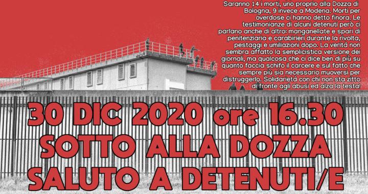 Saluto alla Dozza e le Vallette il 30.12 e al carcere di Pisa il 31.12