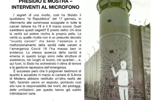 Udine: Presidio sabato 30.01 contro la repressione