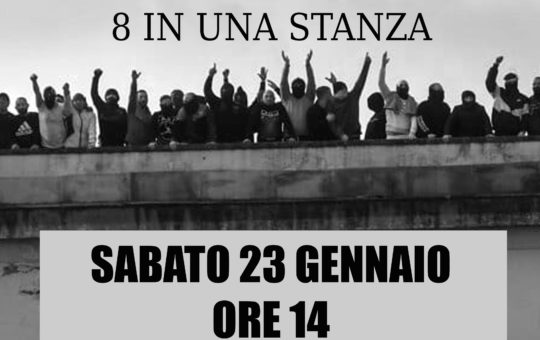 Presidio al carcere di Trieste sabato 23 gennaio