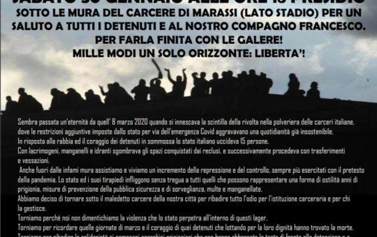 Genova: Presidio al carcere di Marassi il 30.01