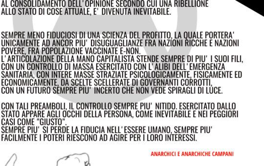 """Campania: Manifesto """"insurrezione unica soluzione"""""""
