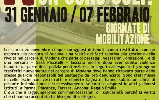 """""""Non sono soli!"""": Giornate di mobilitazione"""