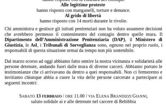 Roma: Il carcere è un problema di tutte: affrontiamolo assieme!