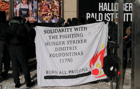 46 giorni di sciopero della fame di Koufontinas+Aggiornamenti dalla Grecia+Consolato greco occupato a Berlino