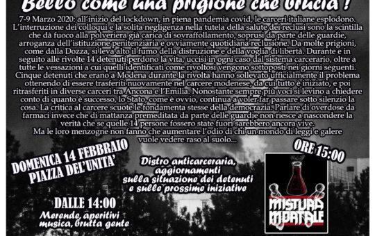 Bologna: Aperitivo benefit anticarcerario il 14.02