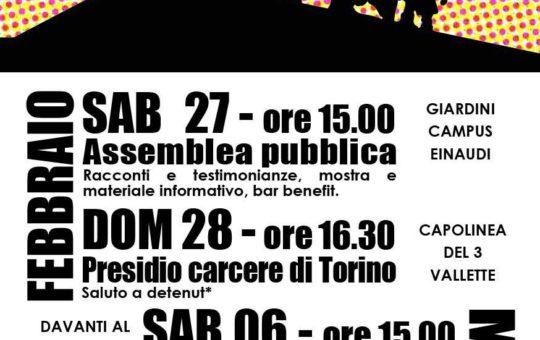 """Torino: """"Un anno dalle rivolte in carcere-Un anno dalla strage di Stato"""""""