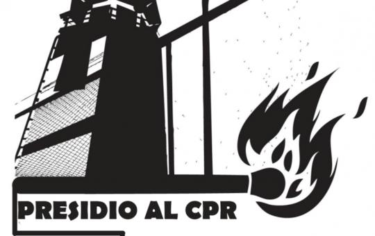 Presidio al CPR di Ponte Galeria il 20.02