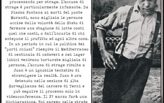 Presidio a Treviso per Juan il 27.03