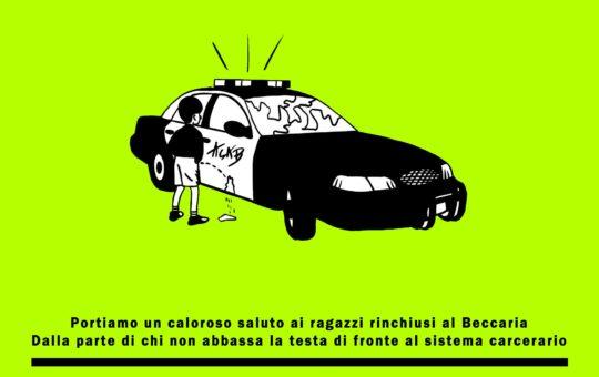 Milano: Presidio al carcere minorile Beccaria il 14.03