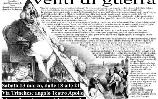 Lecce: Venti di guerra