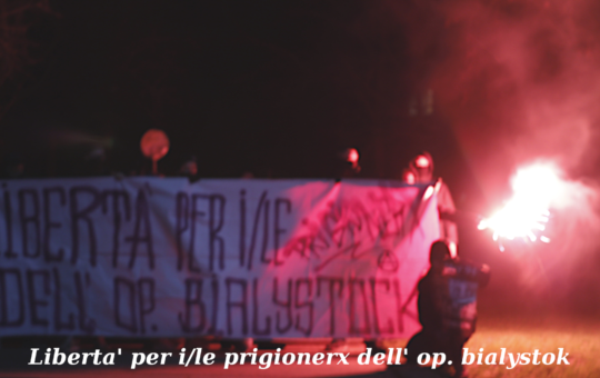 Lipsia: Foto in solidarieta' a prigionierx op. Bialystok