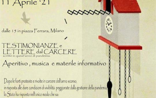 Milano: Testimonianze e lettere dal carcere scritte in quest'anno di pandemia