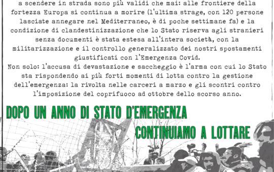 Solidarietà con gli imputati per il corteo contro le frontiere al Brennero. Venerdì 14 maggio presidio a Bolzano