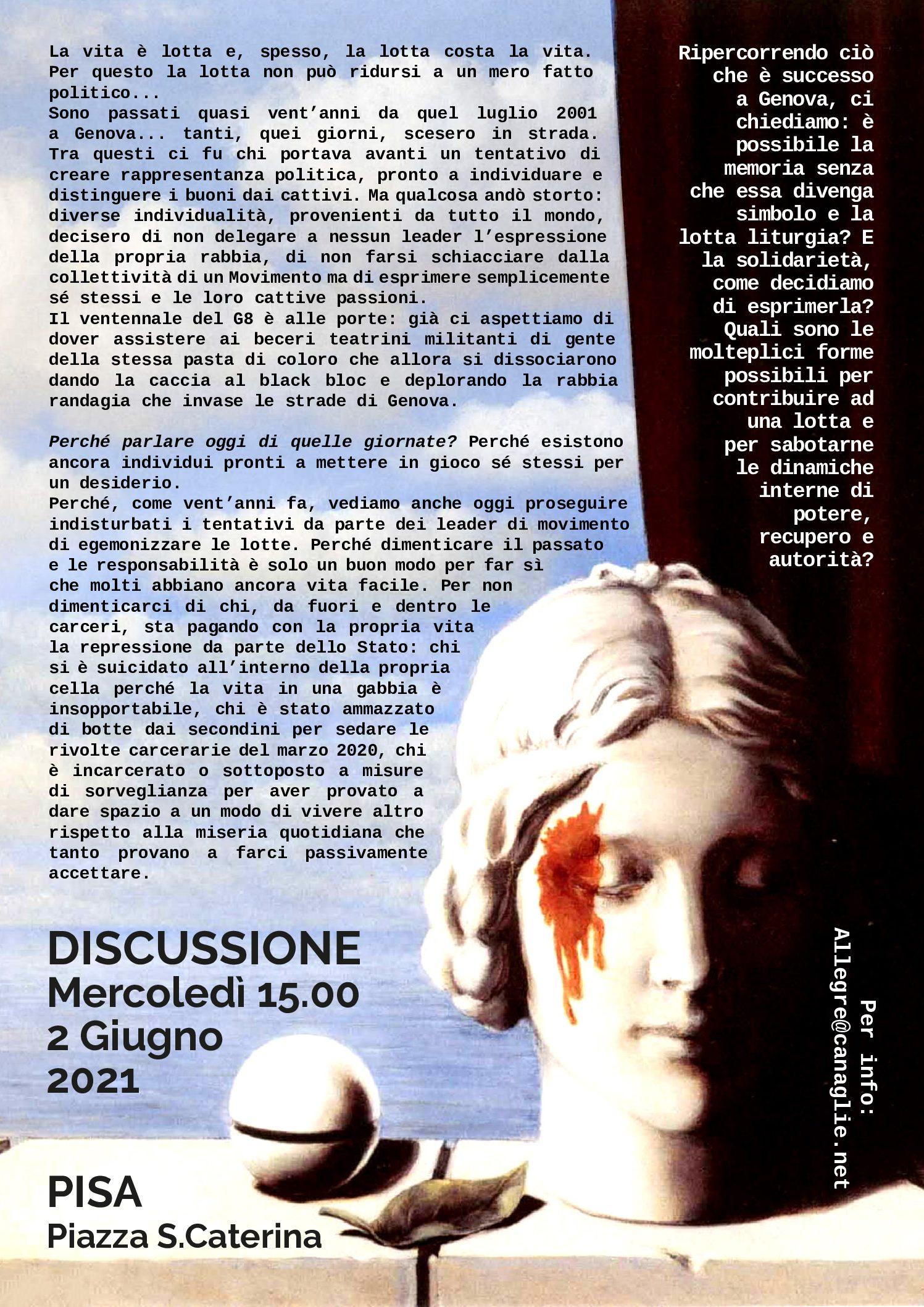 Pisa: Discussione sul G8 di Genova 2001-[02.06]
