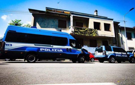 Milano: Sgombero dell'occupazione di via Malipiero 4