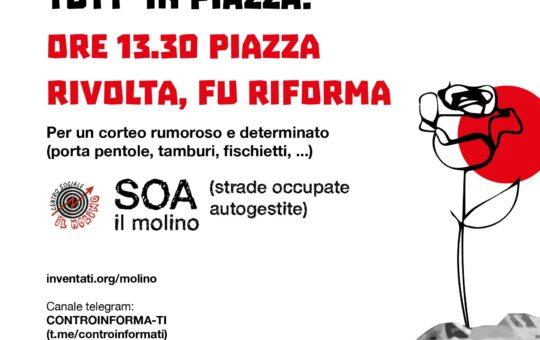 Lugano corteo il 05.06: Le nostre idee non si sgomberano+Intervista