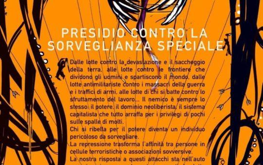 Genova: Presidio contro la Sorveglianza Speciale il 15.11