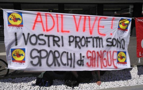 Trento: presidio-picchetto in ricordo di Adil e contro l'offensiva padronale