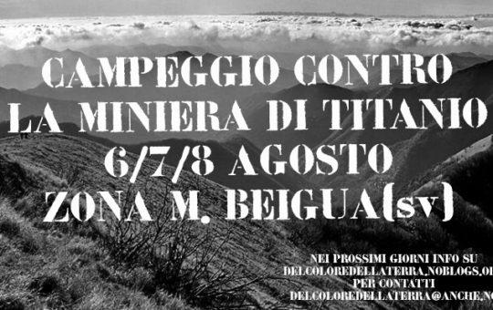 Campeggio contro la miniera di titanio sul Monte Beigua AGGIORNATO