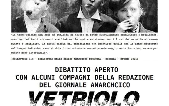 ScienzaeStato:  dibattito aperto con alcuni compagni della redazione del giornale anarchico Vetriolo