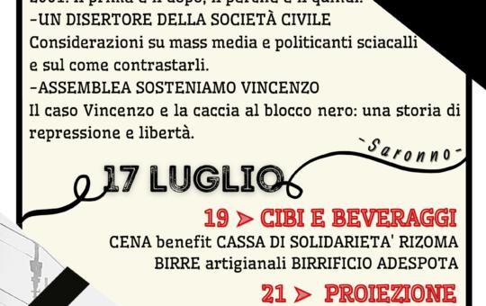 Saronno: Ventennale Genova G8 2001-2021