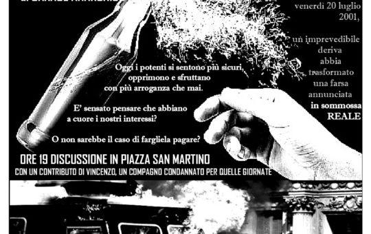 Pisa: A 20 anni dal G8 di Genova
