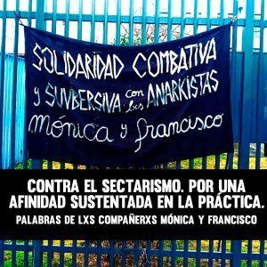 Contro il settarismo. Per un'affinità basata sulla pratica. Parole dei compagni Mónica Caballero e Francisco Solar (Cile)