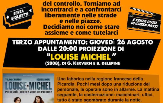 Trento: Cinerforum contro il green pass n°3 il 26.08