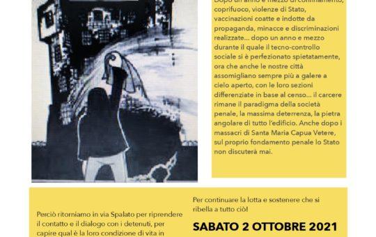 Udine: Presidio sotto al carcere il 02.10