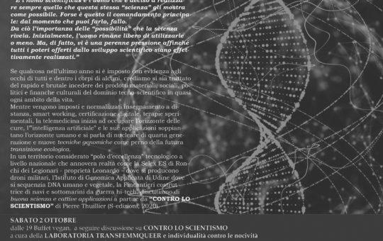 """Udine: Presentazione del libro """"Contro lo scientismo"""""""